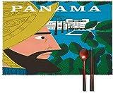 my cat Schöne Tischsets Tischset mit Vintage Poster Panama