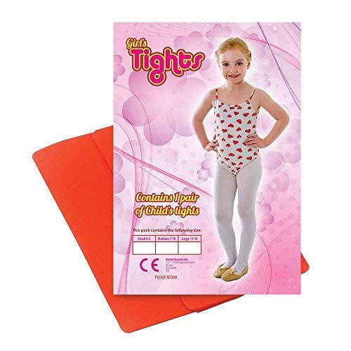 Bristol Novelty Novelty-BA742B BA742B Collants pour Enfant, Rouge, Taille 7/10 Ans, Red, Unique