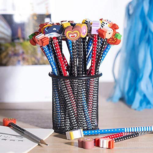 Bleistift, 40x HB Stifte Bleistifte Set mit Radiergummi Set für Kinder, Schule, Mitgebsel,Geschenk,Bleistift 18,5 cm (7,28 Zoll)