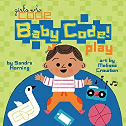 Baby coding book by girls who code, play