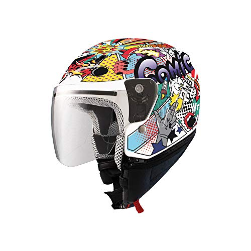 SHIRO - 001176-0001-M/449 : SHIRO - 001176-0001-M/449 : Casco niño Infantil SH-20 Comic Kids II Color Blanco Talla M