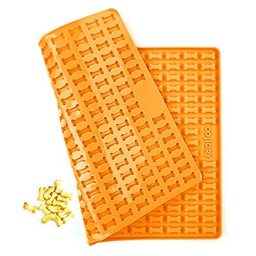 Collory Mini Knochen (2cm) Silikon Backmatte, Backform für Mini DIY Hundekekse und Leckerlis, Knochenbackform, Pralinenform, Antihaftend und Lebensmittelecht (BPA-Frei)