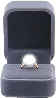 Bullidea 1 Pcs Classic Velvet Engagement Ring Box,Jewellery Pendant Packaging Gift Case for Engagement Wedding Birthday