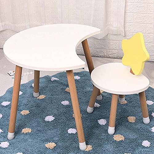 Juego de mesa y silla para niños, mesa y silla de estudio para niños simple multifuncional, mesa de juego con tapete antideslizante, para la familia de jardín de infantes, fuerte y duradero/D