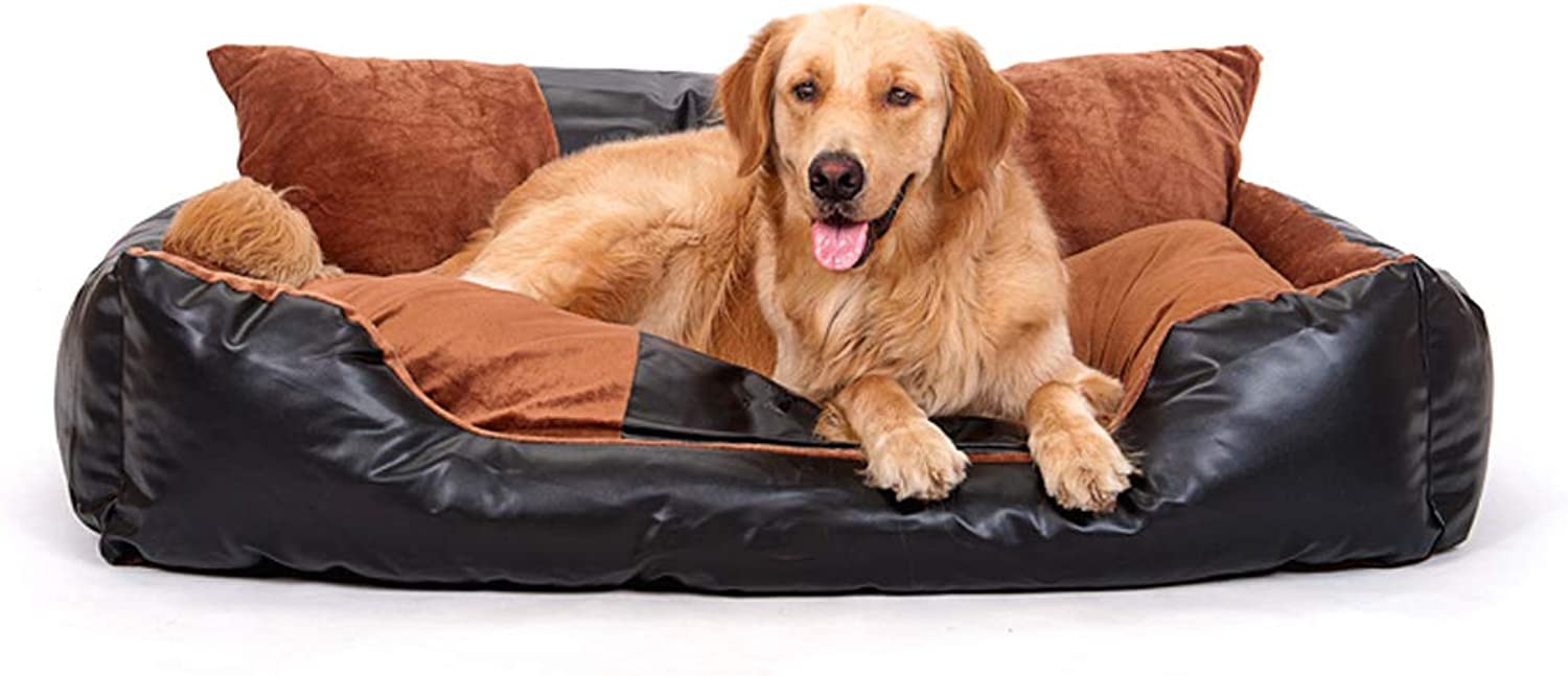 WANGXIAOLIN Dog Bed, Cat Bed, Removable and Washable, Suitable for All Kinds of Dogs, Four Seasons Universal (Black) (Size   S)