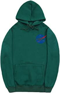 CORIRESHA Fashion NASA Logo Print Hoodie Sweatshirt with Pocket(Smaller Than Standard Size)