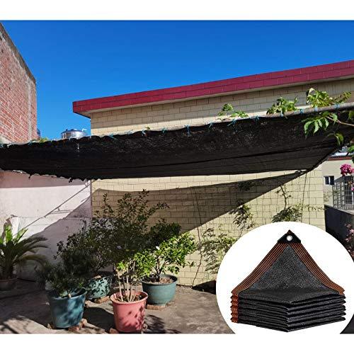 Schattiernetz, Schwarze Netzplane, Sonnenschutz-Schattentuch, Verwendet in Gewächshäusern, Terrassen, Pavillons, Schattennetz, Wärmeisolierung Stoff,12x20m(39 * 66ft)