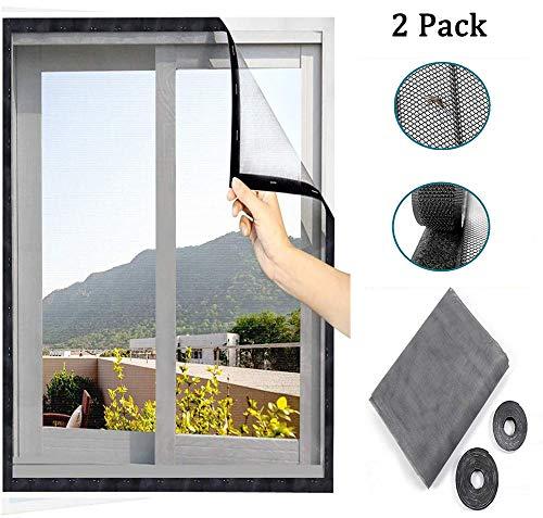 ANQI - 2 paquetes de protección para ventanas de gato, malla de seguridad para gatos, semitransparente, mosquitera para ventana con 2 rollos de cintas autoadhesivas