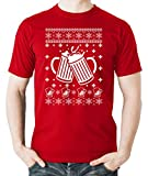 Witty Fashions Ugly Chirstmas Beer Lovers Drinking Party Funny Holiday Mens Tshirt