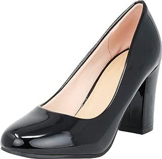 Best black patent block heel pumps Reviews