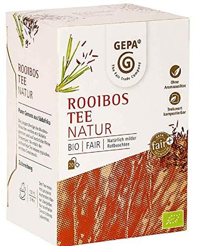 Gepa Bio Rooibos Tee - 100 Teebeutel - 5 Pack ( 20 x 2g pro Pack)