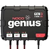 NOCO Genius GEN3, 3-Bank, 30-Amp (10-Amp Per Bank) Fully-Automatic Smart Marine Charger, 12V Onboard Battery Charger And Battery Maintainer