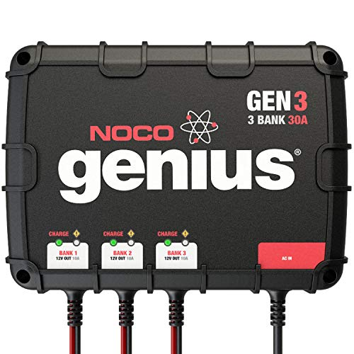NOCO Genius GEN3 30 Amp 3-Bank On-Board Battery...