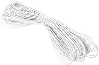Sharplace Expandertouw 3 mm rubberen kabel dekzeil spankabel elastische scheerlijnen bungee touw (zwart/wit)