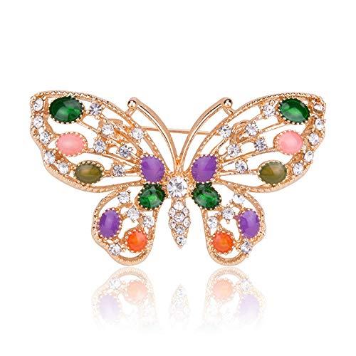 Hermosos broches de mariposa esmaltados para mujer, broche de alfileres de insectos Vintage, estilo de invierno, abrigo, accesorios para vestido, regalo