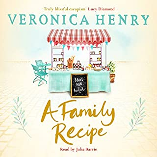 A Family Recipe                   By:                                                                                                                                 Veronica Henry                               Narrated by:                                                                                                                                 Julia Barrie                      Length: 11 hrs and 40 mins     118 ratings     Overall 4.5