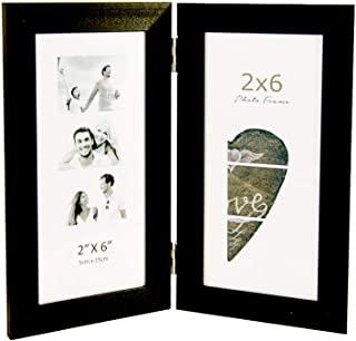 Photo Booth Frames - Displays Two 2x6 Inch Photo Booth Strip Pictures (1, Black)