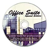Office Suite 2019 on CD for Windows PC, 10, 8, or 7, Includes Computer Guide, Software Powered by Apache OpenOffice