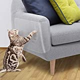 OIFIO Cat Sofa Protector, Furniture Tape For Cats,8 Pack Clear Large Size 17.8'L 12'W Cat Scratch Protector, Cat Scratch Deterrent Tape, Cover to Protect Sofa, Door, Wall,Mattress, Seat, Residue Free.