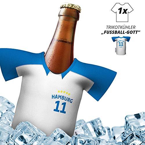 Herren Trikot 2019/20 kühler Home für HSV-Fans | FUßBALL-Gott | 1x Trikot | Fußball Fanartikel Jersey Bierkühler by Ligakakao