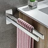 kroceo porta asciugamani doppio portasciugamani da parete adesivo porta salviette bagno senza forare porta asciugamano acciaio inox barra porta asciugamani cucina