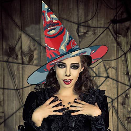 NUJIFGYTCRD Narcos Pablo Escobar El Patron Sombrero de Bruja Halloween Unisex Disfraz para da Festivo Halloween Navidad Carnaval Fiesta