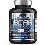 BCAA Ultimate | 5,000mg BCAAs Serving | The Ultimate BCAA Supplement | 40 Servings (200 BCAA Tablets) by Iron Labs Nutrition