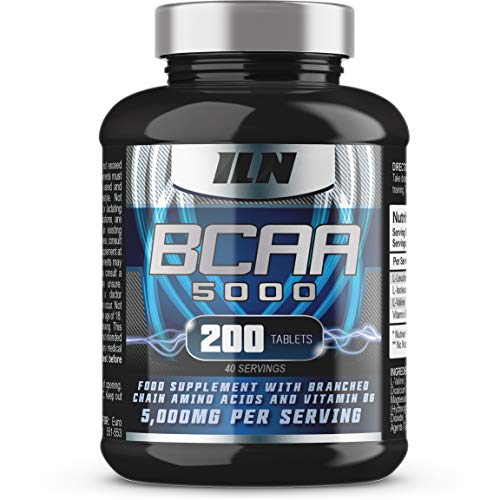 BCAA 5000 - 5,000mg BCAAs Serving - BCAA Food Supplement - 40 Servings (200 BCAA Tablets)
