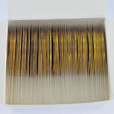 Nagel Laser Gold Glitter Folie Streifenband Linie Regenbogen Linie funkelnde Dekoration