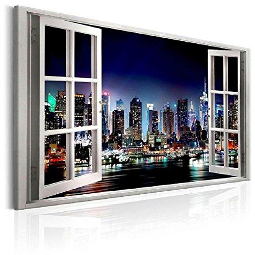 120 x 80 cm Cuadro en Lienzo Ventana Vista Nueva York 5003-SCT –...