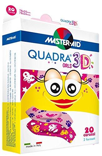 Sensitive Mädchen-Pflaster, Kinderpflaster für Mädchen, QUADRA® 3D Girls - MASTER AID - 20 Stück