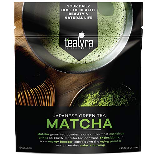 Tealyra - 4oz (112g) - Pure Japanese Matcha Green Tea Powder - Premium Grade - Organic - Izu peninsula, Tokyo - Best Healthy Drink - Hight Antioxidants - Energy Boost