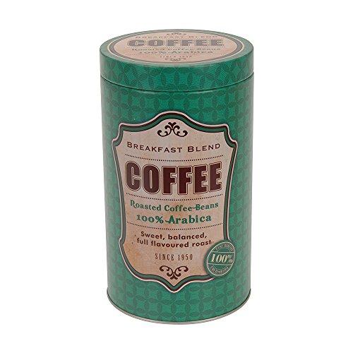 SANIFRI Kaffeedose Aufbewahrungsdose, Vintage Design (11x19cm), Grün