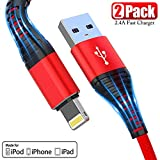 [ Upgarded Apple MFi Certified ] iPhone Charger 10ft, 2Pack...