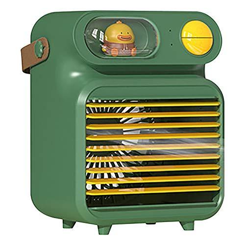 Zarupeng Raffreddatore evaporativo Ventilatore Personale Air Cooler USB 3 velocità del vento silenzioso portatile per raffreddamento ad aria, ventilazione umidificazione a S