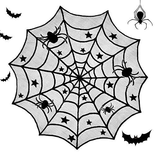 BESLIME Mantel de Halloween Telaraña, Mantel de telaraña N