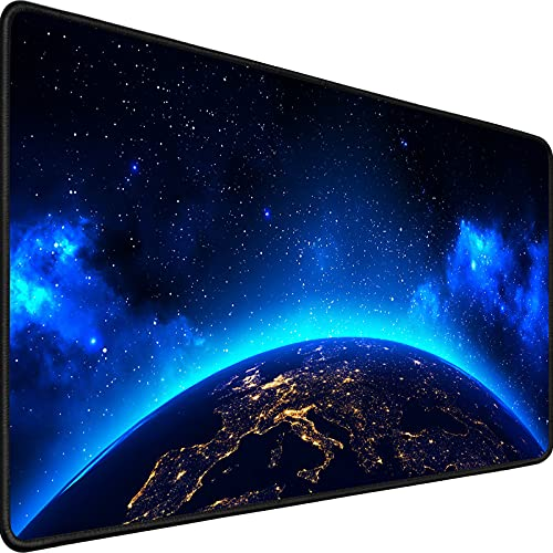 Gaming Mouse Pad,Upgrade Durable 31.5'x15.7'x0.12' Larger Extended Gaming Mouse Pad with Stitched Edges,Waterproof Non-Slip Base Long XXL Large Gaming Mouse Pad for HomeOffice Gaming Work, Space