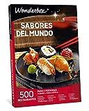 WONDERBOX Caja Regalo para papá -SABORES del Mundo- 500 restaurantes para Dos Personas