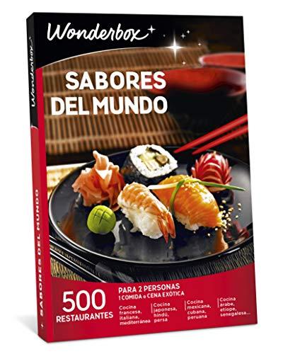 WONDERBOX Caja Regalo para mamá -SABORES del Mundo- 500 restaurantes para Dos Personas