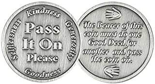 Pass It on Coins Gift Coins, Pay it Forward Coin - Package of 12 Coins