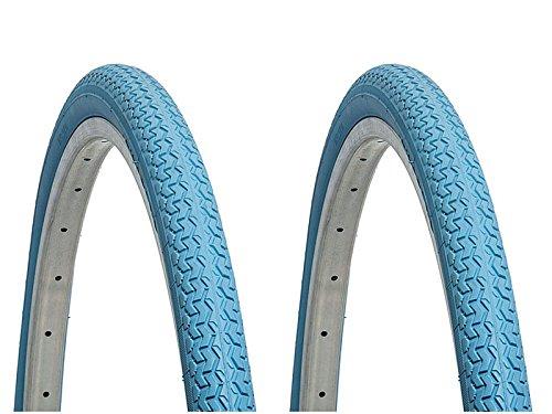 '2 x boîtier roue Deli Tire Bleu 26 26 x1.3/8 Vélo MTB urbaine 6153 AZ