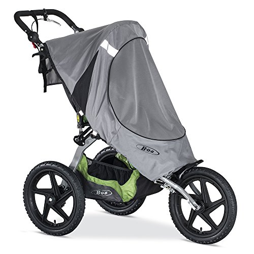 BOB Sun Shield for Single Fixed Wheel Jogging Strollers | Water and Wind Resistant + Ventilated + Easy Install