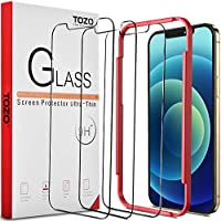 TOZO for iPhone 12 / iPhone 12 Pro 6.1 inch Screen Protector [3-Pack] Premium Tempered Glass [0.26mm] 9H Hardness 2.5D...