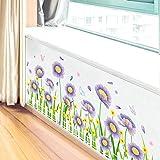 JXFM Crisantemo Etiqueta de la Pared Calcomanía Dormitorio Vinilo Arte Mural Flor Amarilla Margarita Decoración para el hogar Dormitorio de los niños Etiqueta de la Pared Flor 60x15cm