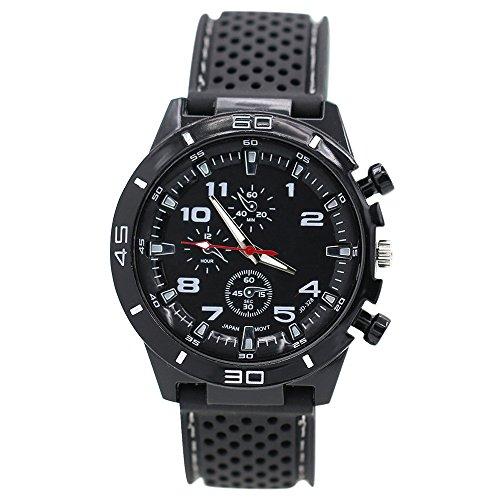 Bodhi2000, orologio sportivo da uomo in silicone, in stile aviatore militare bianco Taglia unica