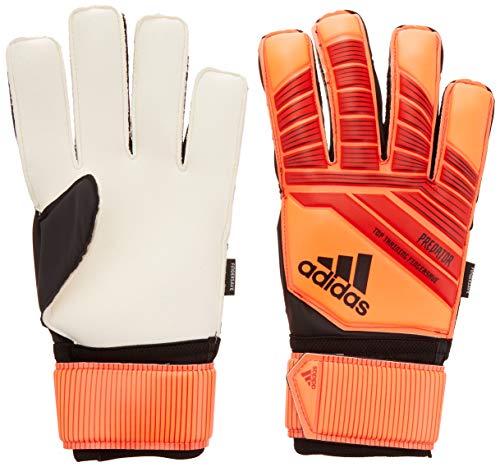 adidas Adult Predator Top Training Fingersaver Goalkeeper Glove, Active Red/Black/Solar Red, 11