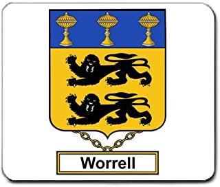 Worrell Family Crest Coat of Arms Mouse Pad