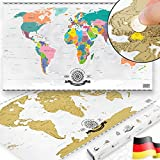 GOODS+GADGETS Scrape Off World Map Gold - XXL Weltkarte zum frei Rubbeln 82 x 45 cm - Rubbel...