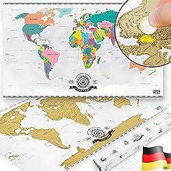 Scratch Off World Map – Weltkarte zum Rubbeln