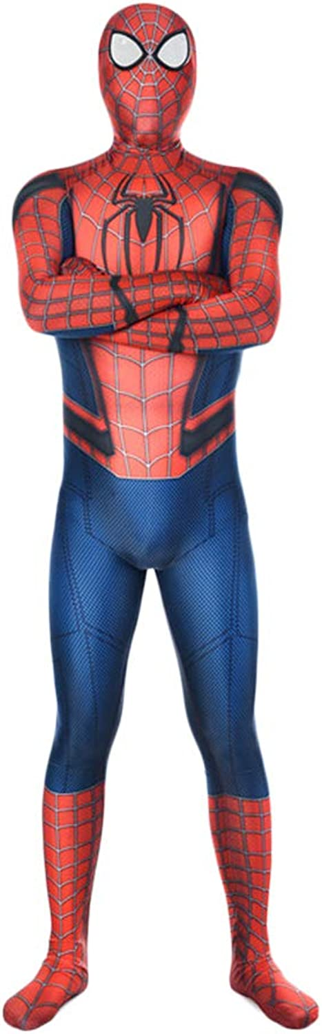 QWEASZER The Amazing Spider-uomo, costume Spideruomo, Costume Cosplay Spider-uomo Fancy Dress Vestiti Role Play Tuta Speex Tute